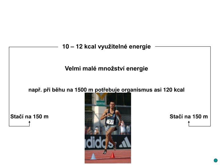 10 – 12 kcal využitelné energie