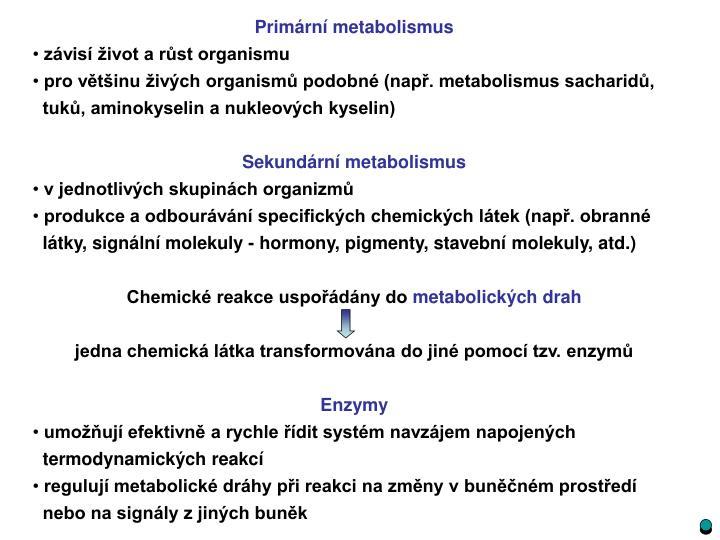 Primární metabolismus