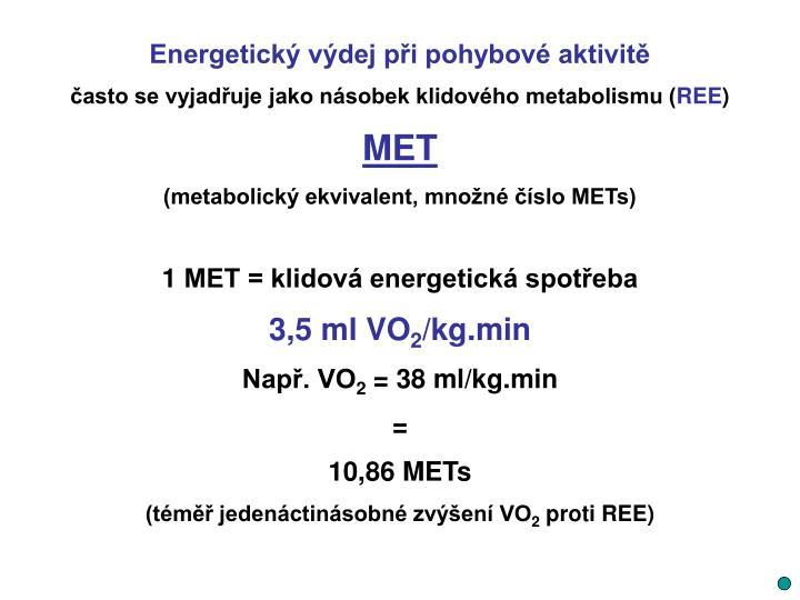 Energetický výdej při pohybové aktivitě