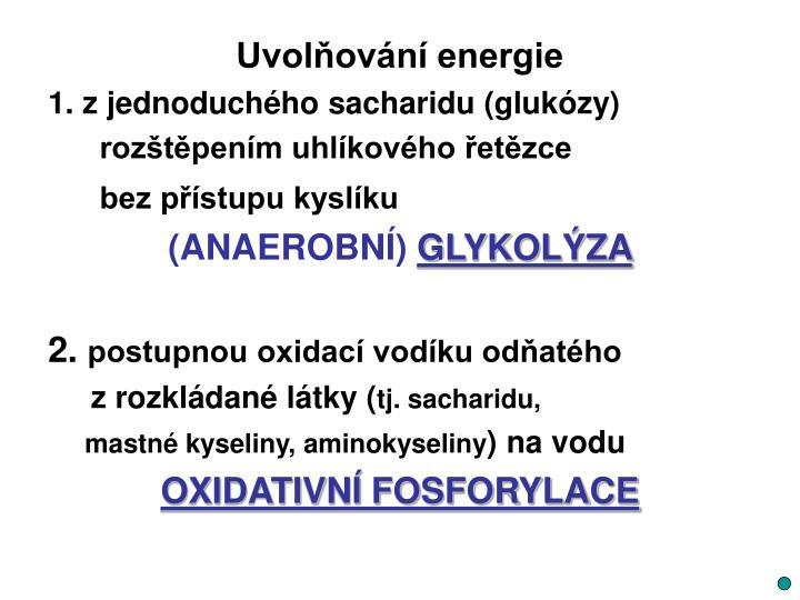 Uvolňování energie