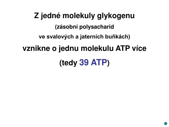 Zjedné molekuly glykogenu