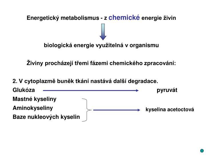 Energetický metabolismus - z