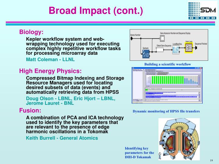 Broad Impact (cont.)