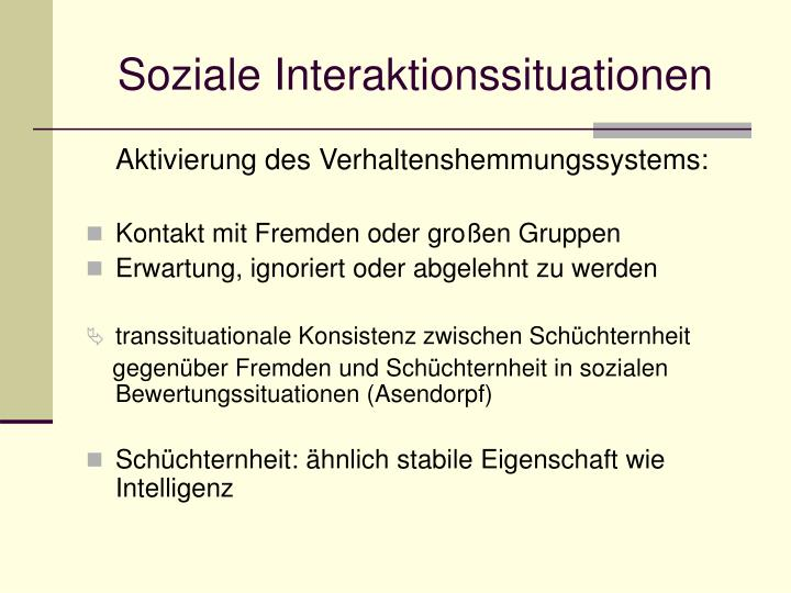Soziale Interaktionssituationen