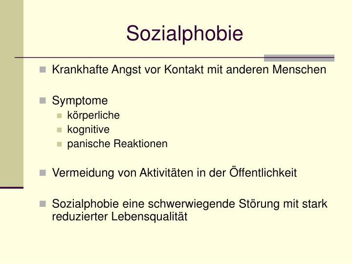 Sozialphobie