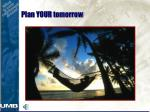 plan your tomorrow