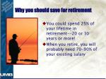 why you should save for retirement