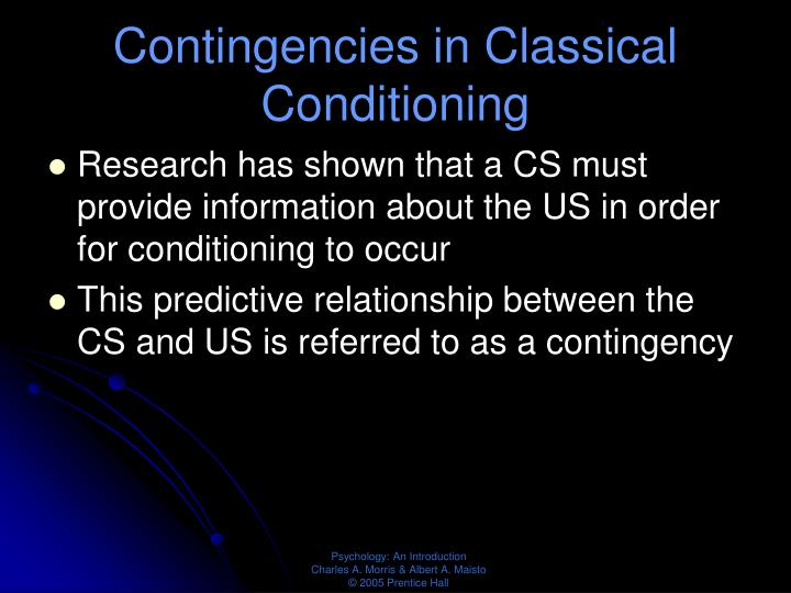 Contingencies in Classical Conditioning