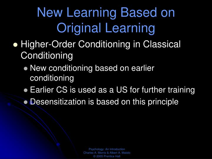 New Learning Based on Original Learning