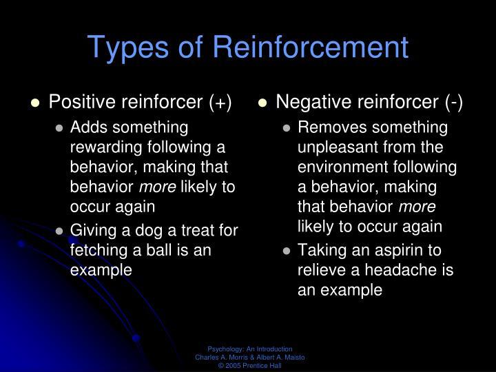 Positive reinforcer (+)