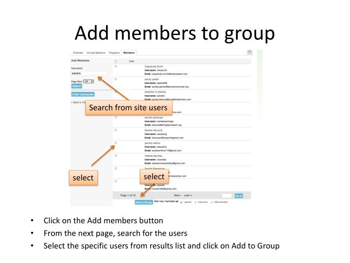 Add members to group