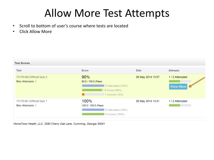 Allow More Test Attempts