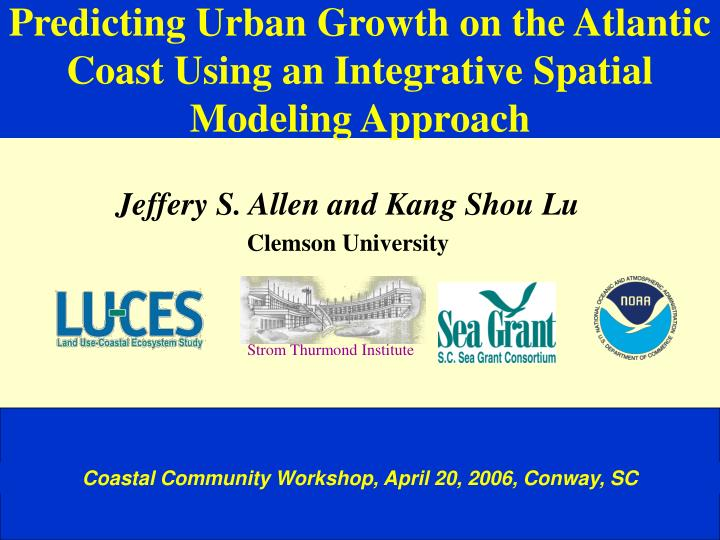 predicting urban growth on the atlantic coast using an integrative spatial modeling approach n.