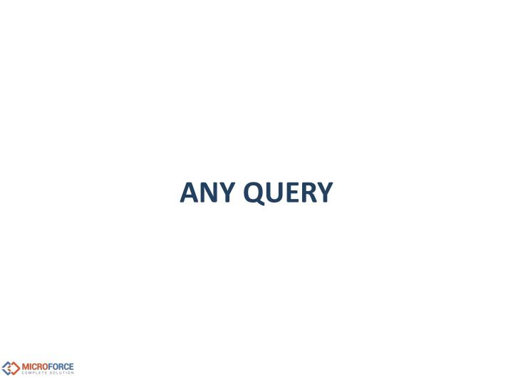 ANY QUERY