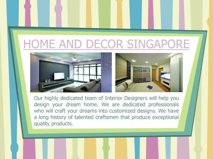 Home and decor singapore