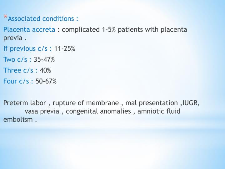 Associated conditions :