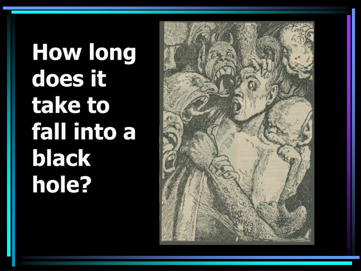 How long does it take to fall into a black hole?