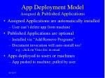 app deployment model assigned published applications