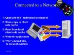 connected to a network