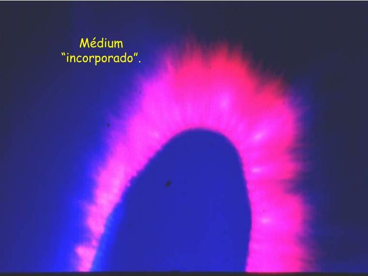 """Médium """"incorporado""""."""
