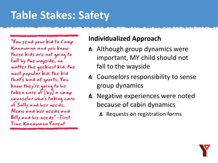 Table Stakes: Safety