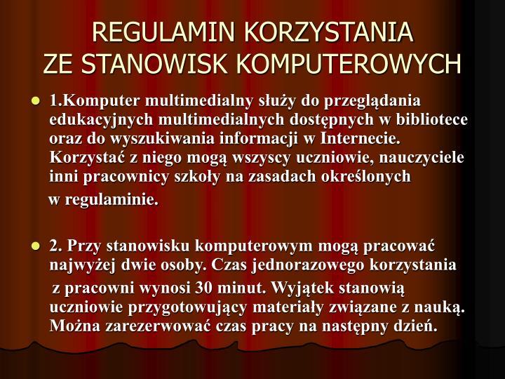 REGULAMIN KORZYSTANIA