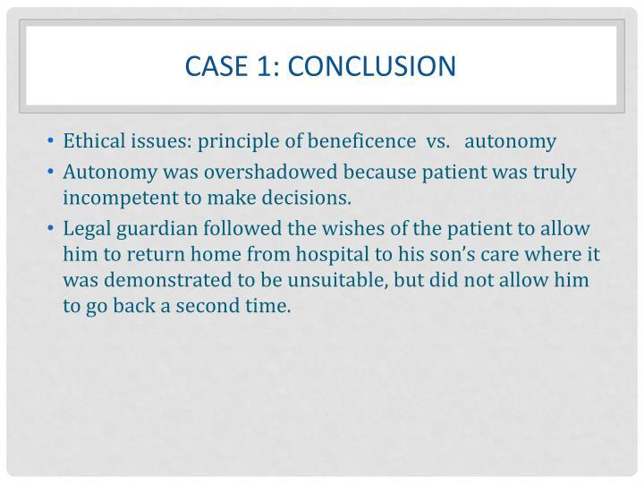 Case 1: Conclusion