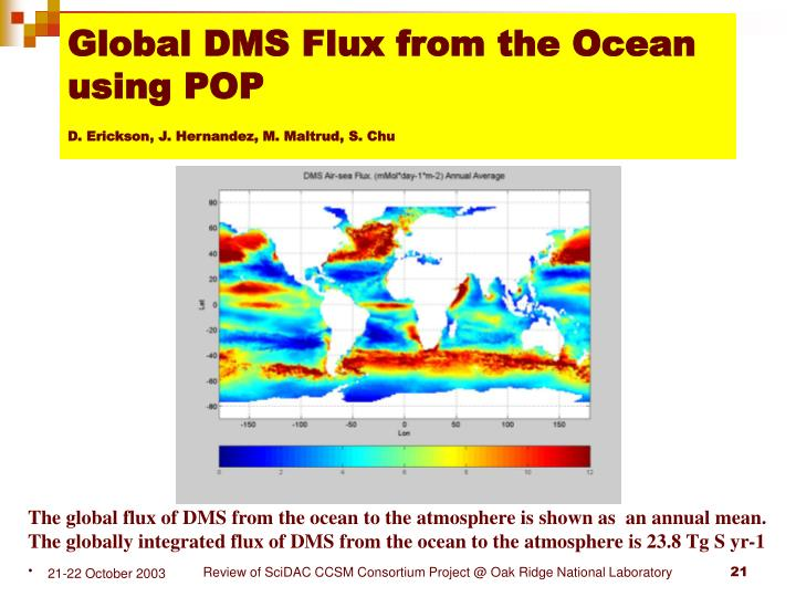 Global DMS Flux from the Ocean using POP
