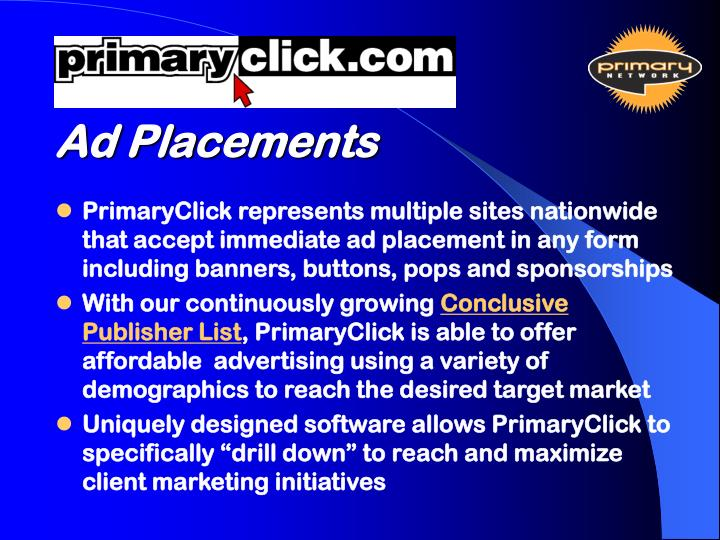Ad Placements