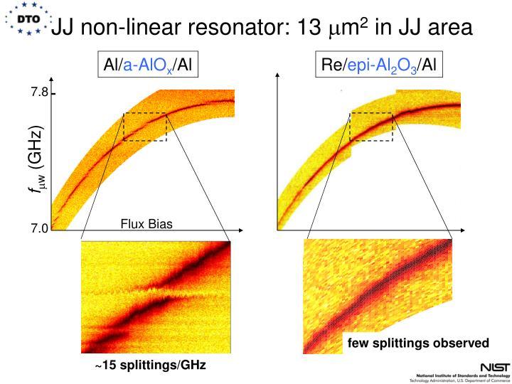 JJ non-linear resonator: 13