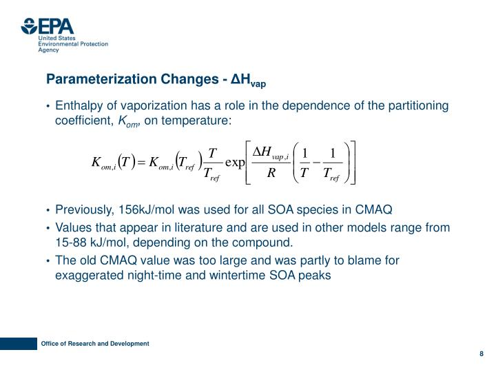 Parameterization Changes -