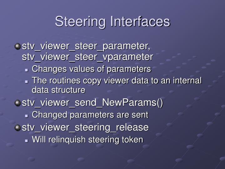 Steering Interfaces
