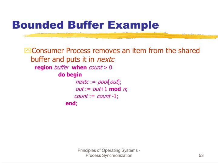 Bounded Buffer Example