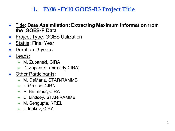 fy08 fy10 goes r3 project title n.