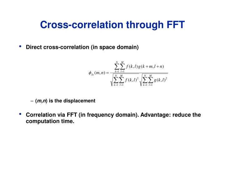 Cross-correlation through FFT