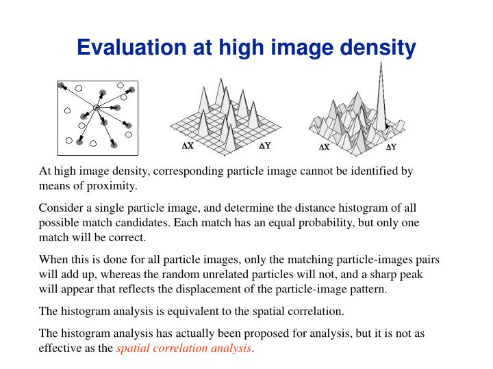 Evaluation at high image density