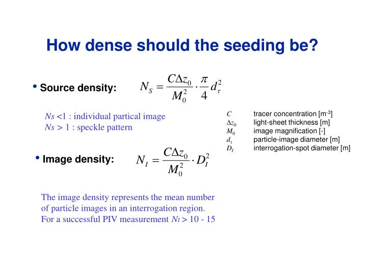 How dense should the seeding be?