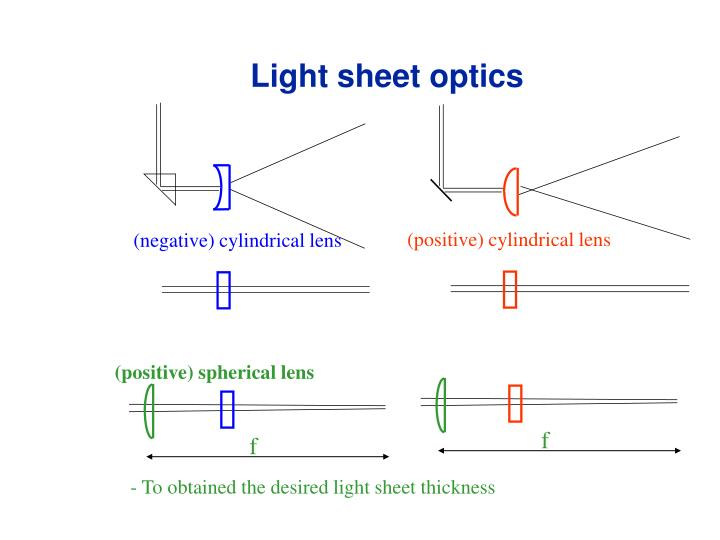 Light sheet optics