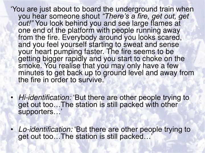 'You are just about to board the underground train when you hear someone shout
