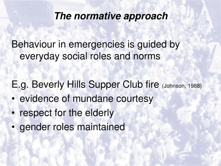 The normative approach