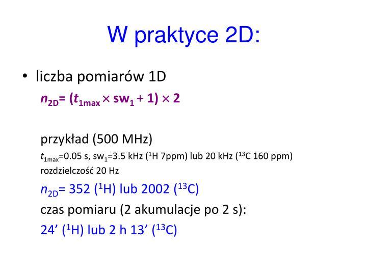 W praktyce 2D: