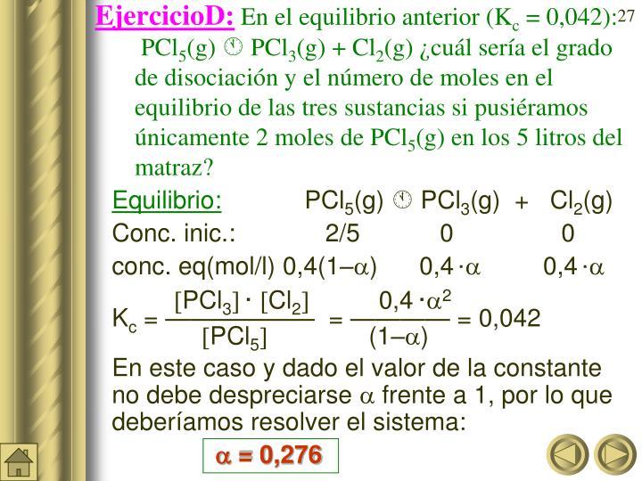 EjercicioD: