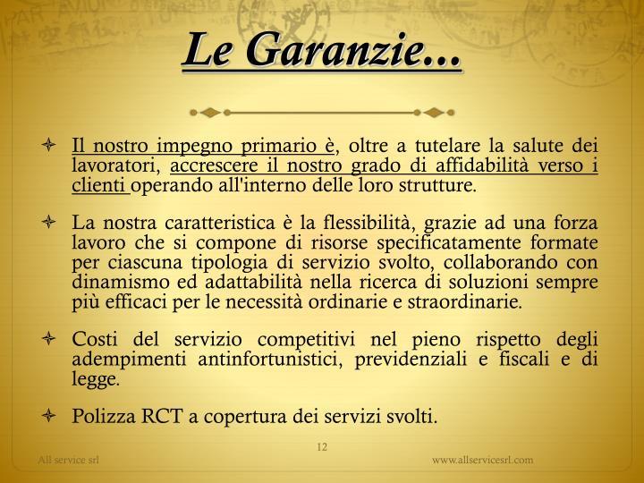 Le Garanzie...
