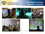 game based training systems examples