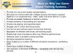 more on why use game based training systems
