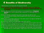 4 benefits of biodiversity