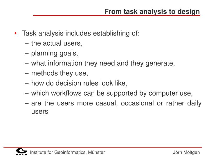 From task analysis to design