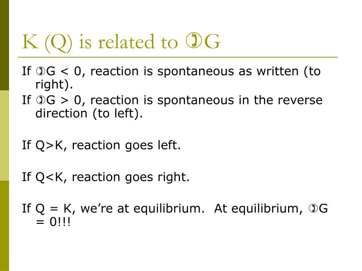 K (Q) is related to