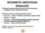 interneto vartotojai pasaulyje