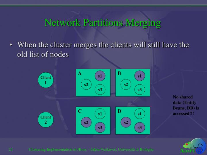 Network Partitions Merging